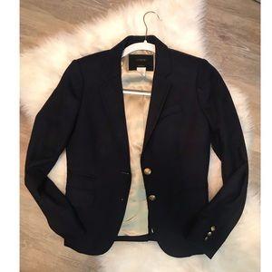 J. Crew navy schoolboy blazer